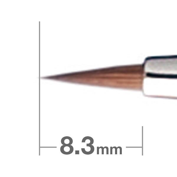 Кисть для подводки HAKUHODO Eyeliner Brush Round K007