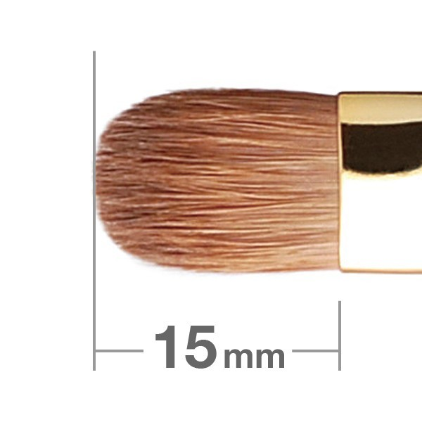 Кисть для теней HAKUHODO Eye Shadow Brush Round & Flat S123Bk