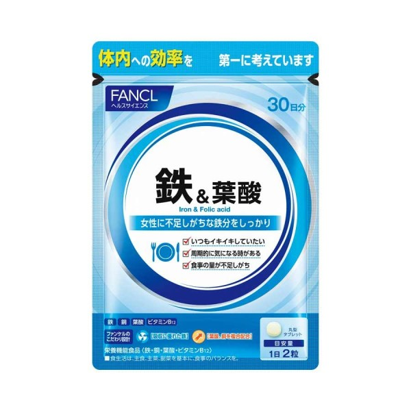 Минеральный комплекс Железо + Фолиевая кислота FANCL IRON + Folic acid