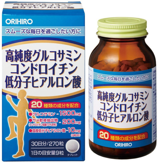 Глюкозамин с хондроитином Orihiro Glucosamine With Chondroitin