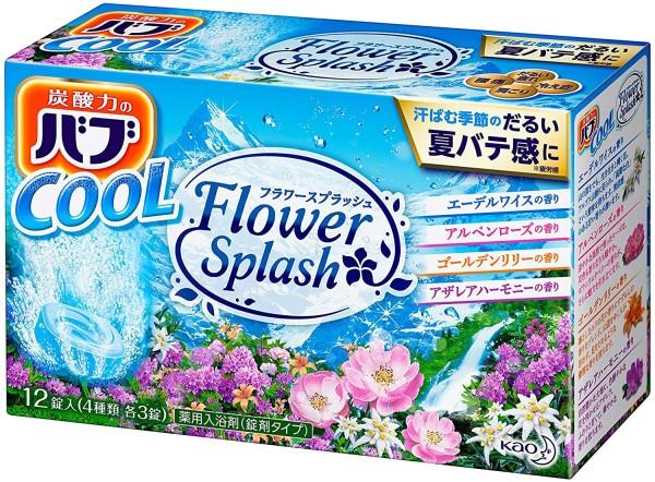 Газированные таблетки (соль для ванн) KAO BUB Flower Splash c аромамаслами