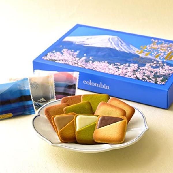 """Печенье с шоколадной начинкой """"Гора Фудзияма"""" ассорти Colombin Mt. Fuji Merville"""