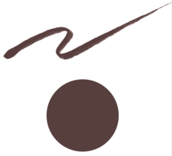 Гелевый карандаш для глаз DHC коричневый