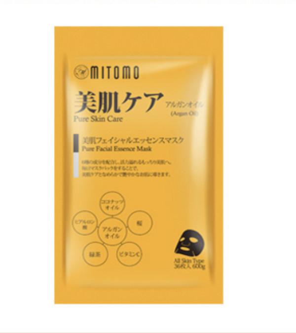 Маска для лица с экстрактом маточного молочка и золотом Mitomo Royal Jelly + Gold