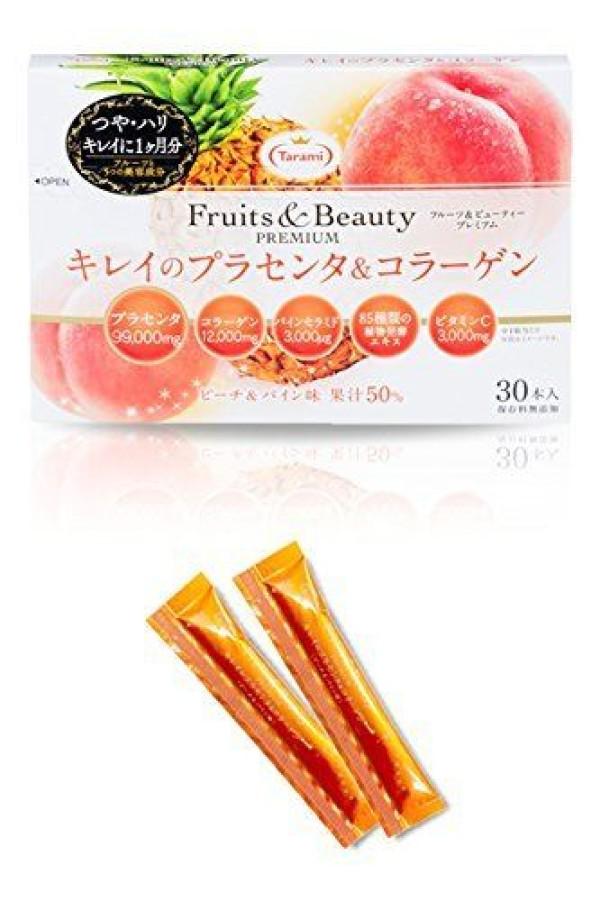 Витаминное желе для красоты кожи с плацентой и коллагеном Tarami Fruits & Beauty PREMIUM Karei's Placenta & Collagen