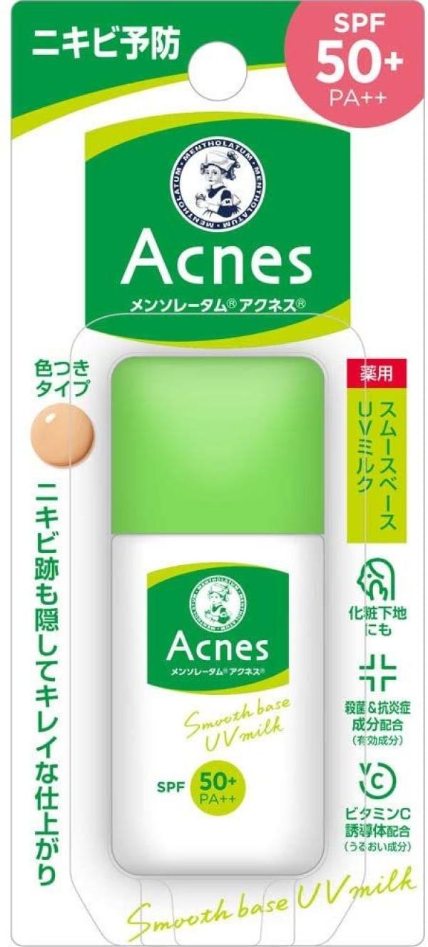 Солнцезащитное молочко для жирной и проблемной кожи ROHTO Acnes UV Clear Milk SPF 50+