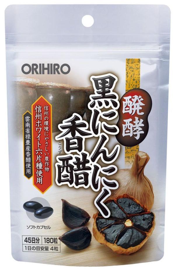 Комплекс с черным чесноком и рисовым уксусом для иммунитета Orihiro Fermented Black Garlic Vinegar