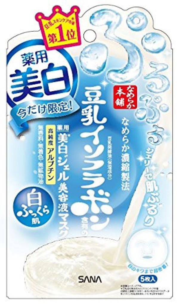 Отбеливающая маска Sana Smooth Honpo Whitening Gel Beauty Liquid Mask