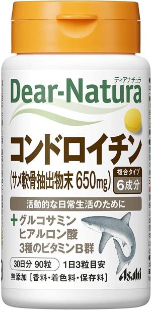 Комплекс с глюкозамином, хондроитином и гиалуроновой кислотой Asahi Dear-Natura Glucosamine+Chondroitin+Hyaluronic Acid