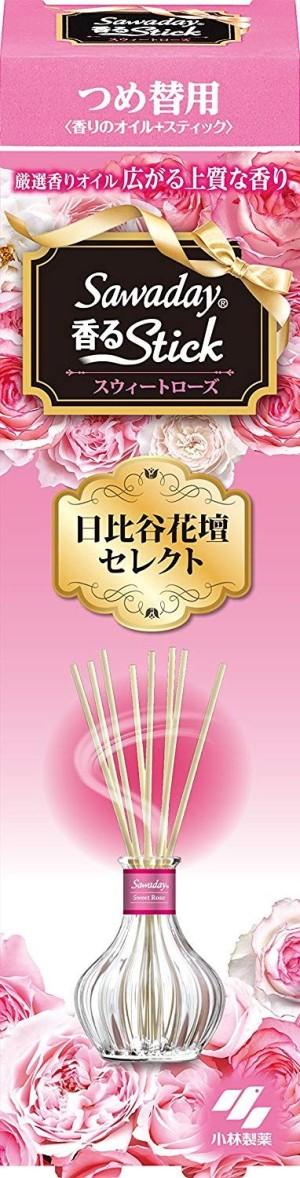 Натуральный ароматизатор для дома Kobayashi Stick белая роза (сменный блок)