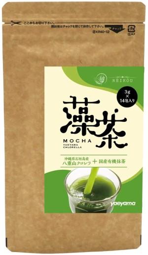 Быстрорастворимый чай матча с хлореллой Yaeyama Tea Mocha Chlorella