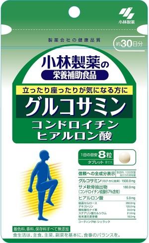 Лекарственный комплекс для суставов Kobayashi Pharmaceutical Glucosamine+Chondroitin+Hyaluronic Acid