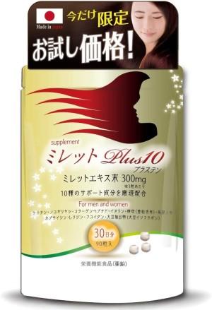 Комплекс при истончении волос Millet Plus 10 Saw Palmetto + Collagen + Fucoidan