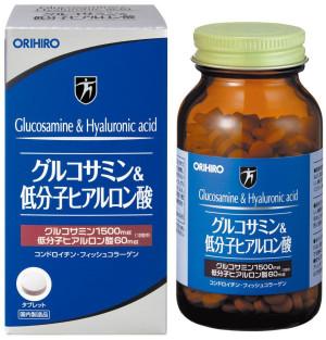 Глюкозамин и гиалуроновая кислота Orihiro для здоровых суставов
