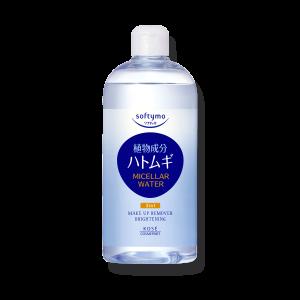 Осветляющая мицеллярная вода Kose Softymo 3 in 1 Makeup Remover Brightening Micellar Water