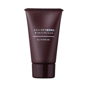 Отбеливающий гель для возрастной кожи Muji Aging Care Medicinal Whitening All-in-One Gel