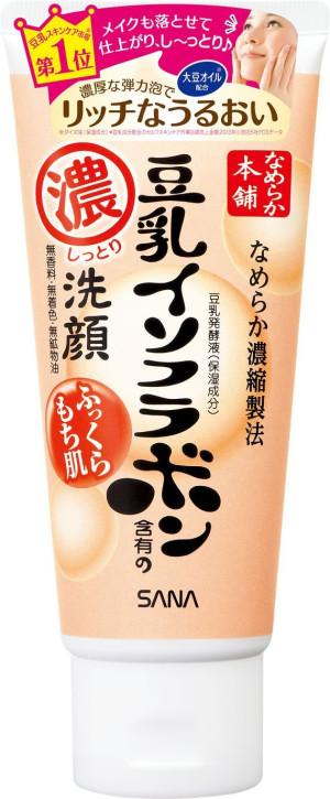 Пенка для умывания и снятия макияжа Sana Nameraka Honpo Moist Cleansing Wash