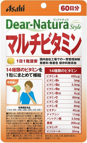 Комплекс с 14 видами витамином Asahi Dear-Natura Style Multivitamin