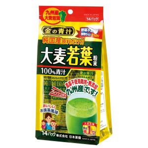Аодзиру из листьев молодого ячменя Nihon Yakken Japanese Medicine Golden Aojiru Pure Domestic Barley Leaf 100%