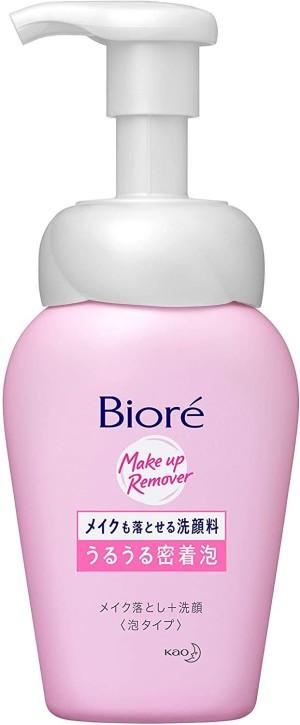 Пенка для умывания и демакияжа Kao Biore Uru-Uru Adhesive Bubbles