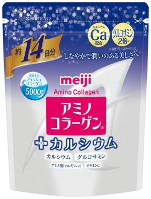 Амино-коллаген + кальций Meiji Amino Collagen Plus Calcium