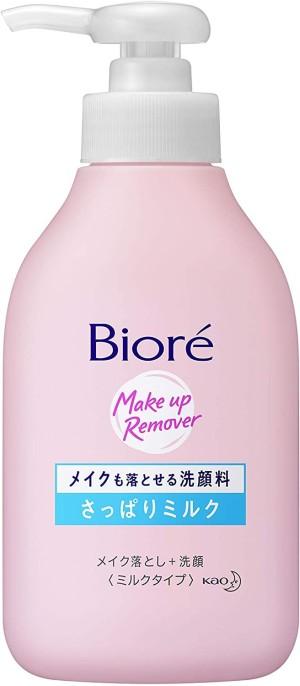 Концентрированное молочко для умывания и демакияжа Kao Biore Of Face Wash Can Remove Makeup