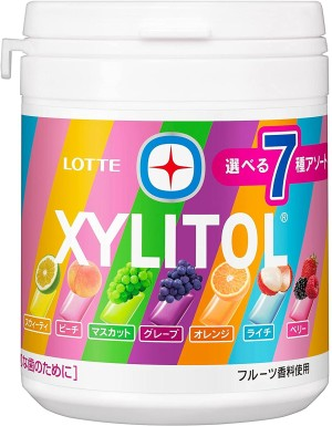 Жевательная резинка с ксилитом, без сахара LOTTE Xylitol Gum Family Bottle