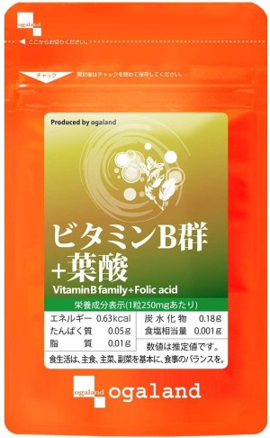 Витамины группы В + фолиевая кислота Ogaland Vitamins B + Folic Acid