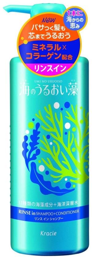 Увлажняющий шампунь + кондиционер Kracie Umi No Uruoiso Moisture Care Rinse in Shampoo + Conditioner