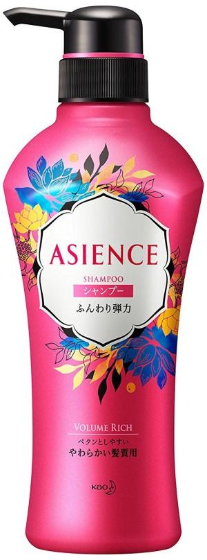 Шампунь с протеинами шелка и гранатом Kao Asience Volume Rich Shampoo