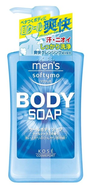 Освежающее мужское мыло для тела Kose Men's Softymo Cool Body Soap