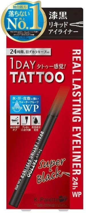 Лайнер - карандаш для век K - Palette 1 DAY TATTOO чёрный