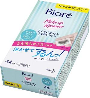 Увлажняющие салфетки для снятия макияжа Kao Biore Fukudoku Cotton Moist Rich