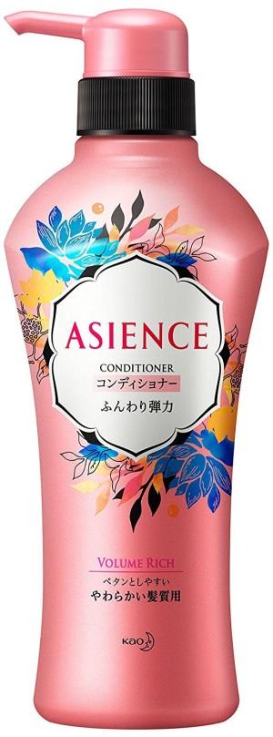 Кондиционер с протеинами шелка и гранатом Kao Asience Fluffy Elastic Type Conditioner