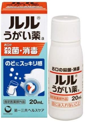 Концентрированная жидкость для полоскания горла Daiichi-Sankyo Lulu Mouthwash A