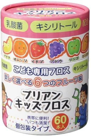 Зубная нить с фруктовым ароматом Brian Kids Floss Dental
