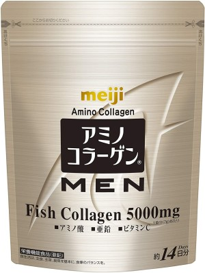 Амино-коллаген для мужчин Meiji Amino Collagen MEN Arginine + Ceramide + Zinc