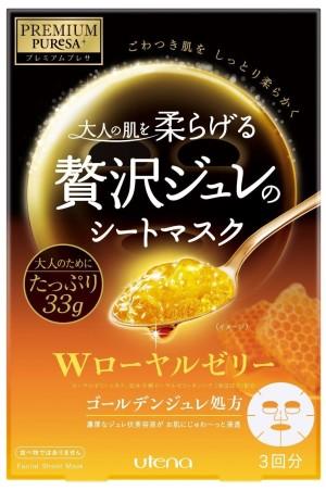 Антивозрастная маска с маточным молочком Utena Premium Puresa Golden Jule Mask Royal Jelly