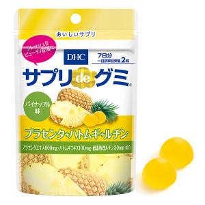 Ананасовые жевательные витамины с плацентой DHC Supplement de Gummy Placenta + Pearl Barley + Rutin
