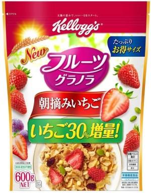 Гранола с клубникой Kellogg's Fruit Granola Morning Picked Strawberry
