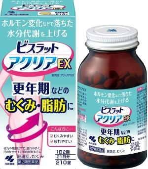 Комплекс для уменьшения жировых отложений и отечности в период менопаузы Kobayashi Bisrat Aclear EX