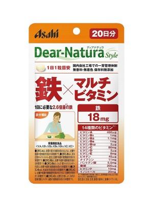 Комплекс мультивитаминов с железом Asahi Dear-Natura  Style Iron Multivitamin