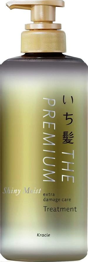 Восстанавливающий, увлажняющий кондиционер Kracie Ichikami THE PREMIUM Shiny Moist Extra Damage Care Treatment