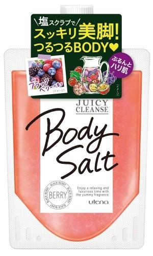Подтягивающий солевой скраб для тела с экстрактами фруктов Utena Juicy Cleanse Body Salt Berry