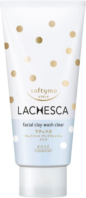Глубоко очищающая пенка с глиной Kose Softymo Lachesca Clay Clear Wash