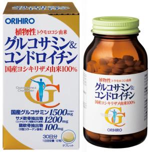 Глюкозамин + Хондроитин Orihiro для облегчения болей в суставах