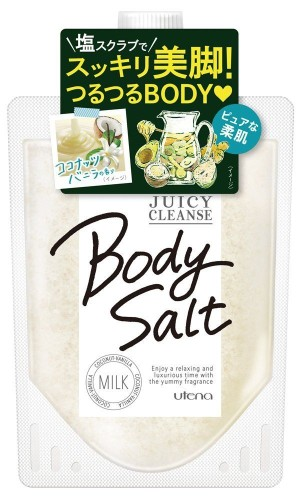 Солевой скраб для тела с кокосом Utena Juicy Cleanse Body Salt Milk
