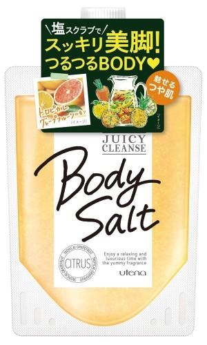 Очищающий солевой скраб для тела с тропическими фруктами Utena Juicy Cleans Body Salt Citrus