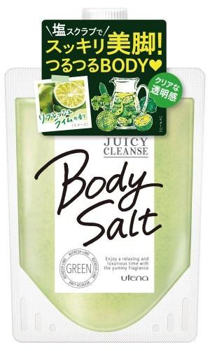 Солевой скраб для тела с ароматом лайма Utena Juicy Cleanse Body Salt Green