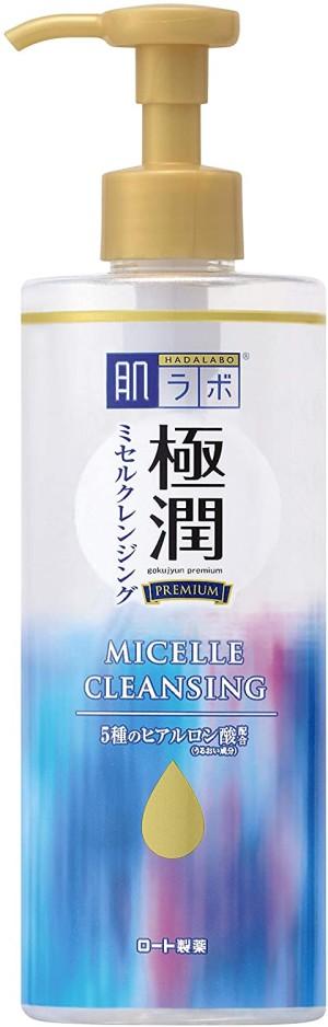 Мицеллярная вода с гиалуроновой кислотой Rohto Hada Labo Gokujyun Premium Micelle Cleansing Hyaluronic Acid